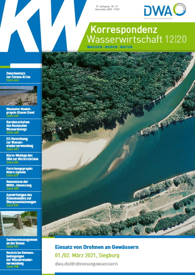 Cover of the magazine Korrespondenz Wasserwirtschaft 12/2020