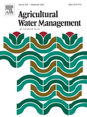 Agricultural Water Management's Cover