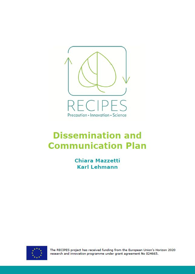 Cover RECIPES Communication plan