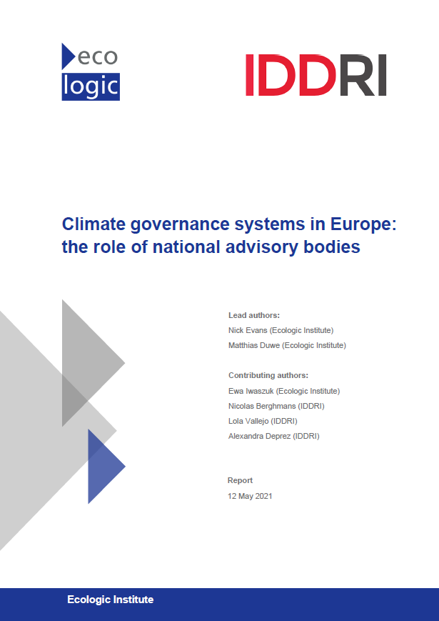 Climate governance systems in Europe: the role of national advisory bodies