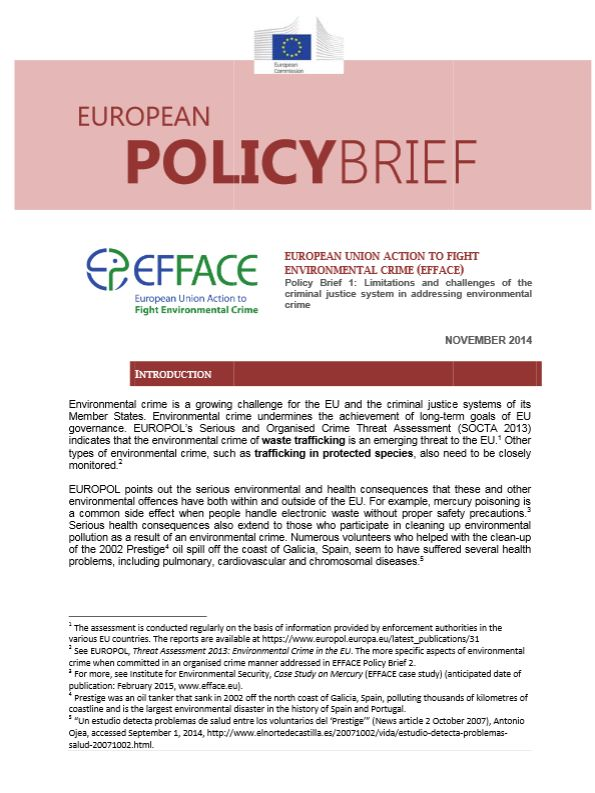 policy brief example template - efface policy briefs on environmental crime ecologic