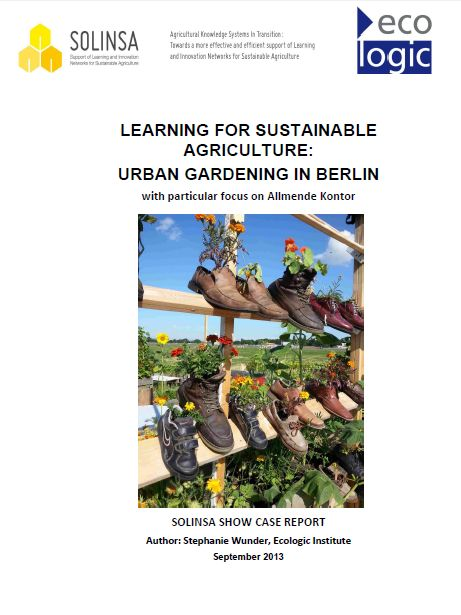 learning for sustainable agriculture urban gardening in berlin ecologic institute science. Black Bedroom Furniture Sets. Home Design Ideas